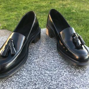 Dr. Martens Favilla black leather tassel loafers